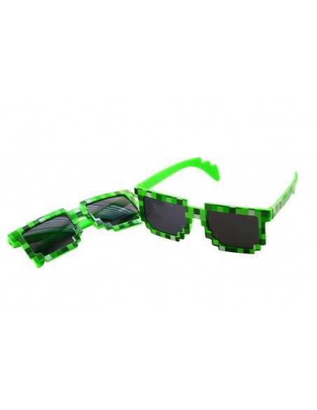 Детские солнцезащитные очки Майнкрафт (Minecraft) зеленые