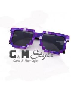 Детские солнцезащитные очки Майнкрафт (Minecraft) фиолетовые