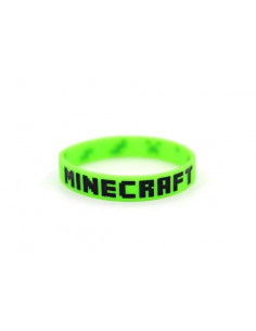 Силиконовый браслет Minecraft зеленый