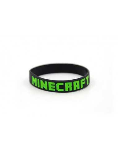 Силиконовый браслет Minecraft черный