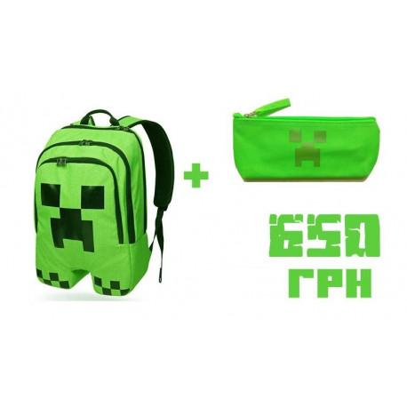 Школьный рюкзак Minecraft Creper (Майнкрафт)