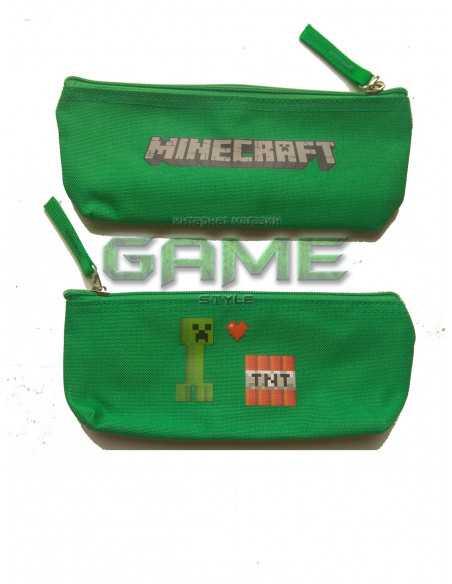 Пенал школьный Creeper TNT Minecraft