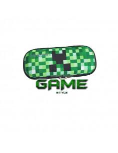 Пенал школьный Minecraft Creeper жесткий малый