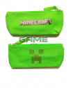 Пенал школьный Creeper Minecraft салатовый