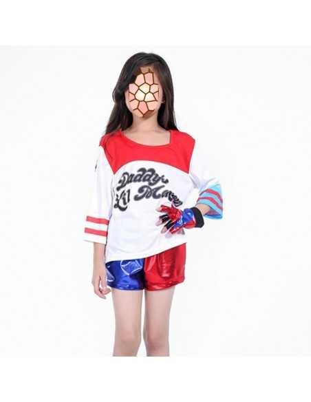 Десткий костюм Харли Квинн (футболка и шорты)