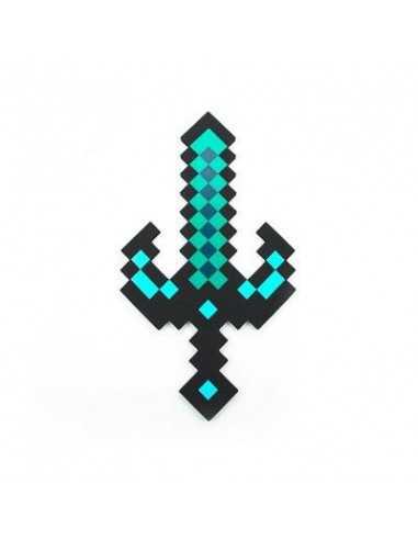 """Пиксельный черный меч """"Изумрудный"""" Майнкрафт 60см"""