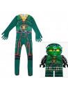 Детский костюм Lego Ninjago ЛЛойда (зелёный) комбинезон