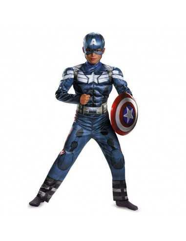 Костюм Капитан Америка детский с мышцами