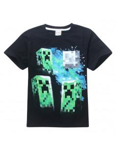 Футболка Minecraft Атака Криперов чёрная