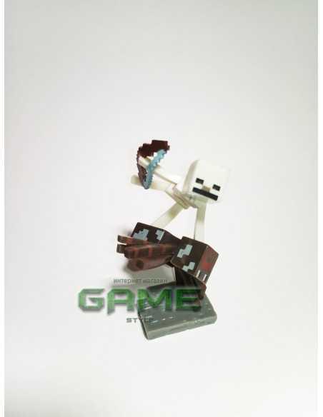 Фигурка конструктор Minecraft Скелет на пауке