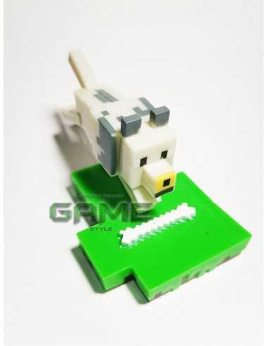 Фигурка конструктор Minecraft Волк с костью