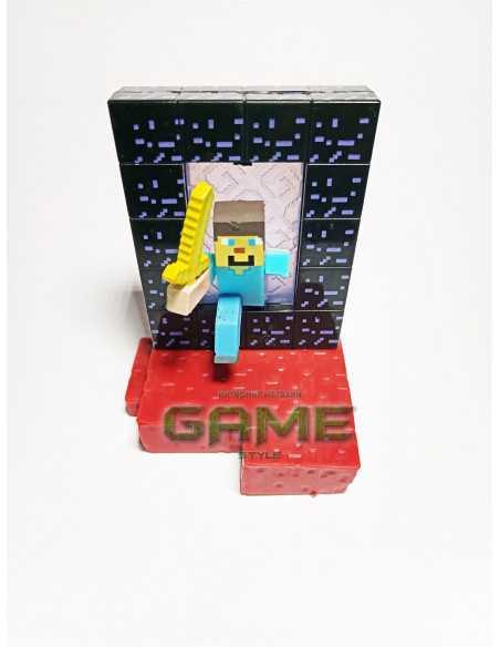 Фигурка конструктор Minecraft Стив в портале