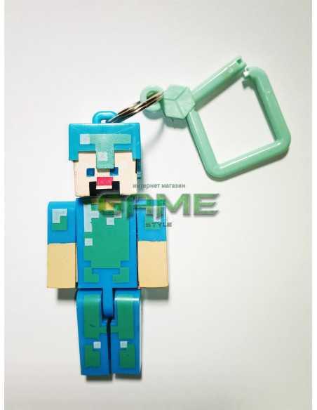 Фигурка брелок Стив в алмазной броне Minecraft