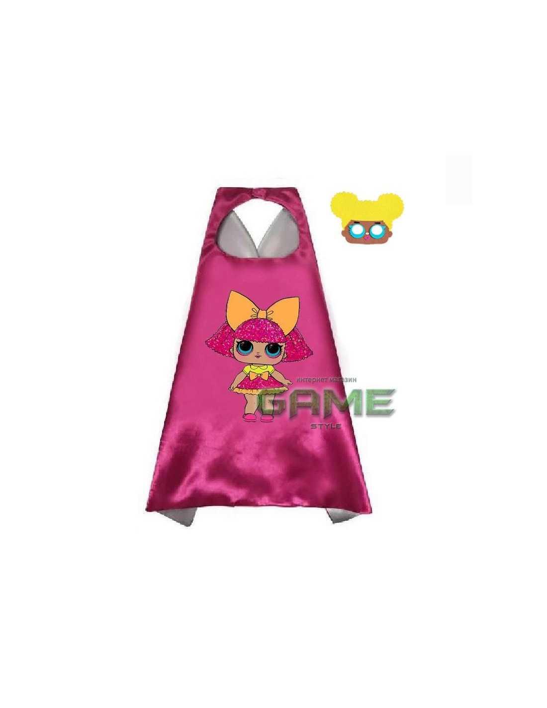 Новогодний костюм LOL Surprise халат с маской красный