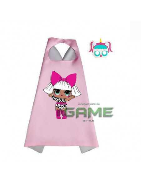 Новогодний костюм LOL Surprise халат с маской розовый
