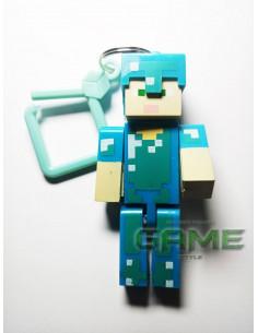 Фигурка брелок Стив в броне Minecraft