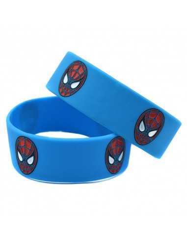 Силиконовый браслет Spider-Man синий