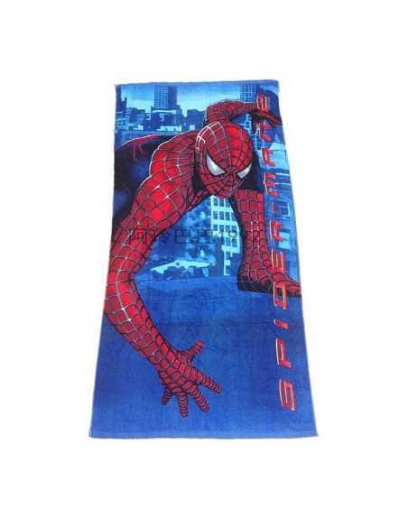 Хлопковое полотенце Spider-Man голубое 150х72 см