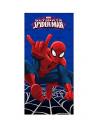Хлопковое полотенце Spider-Man синее 120х60 см