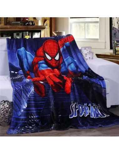 Флисовый плед Spider-Man синий 150х200 см