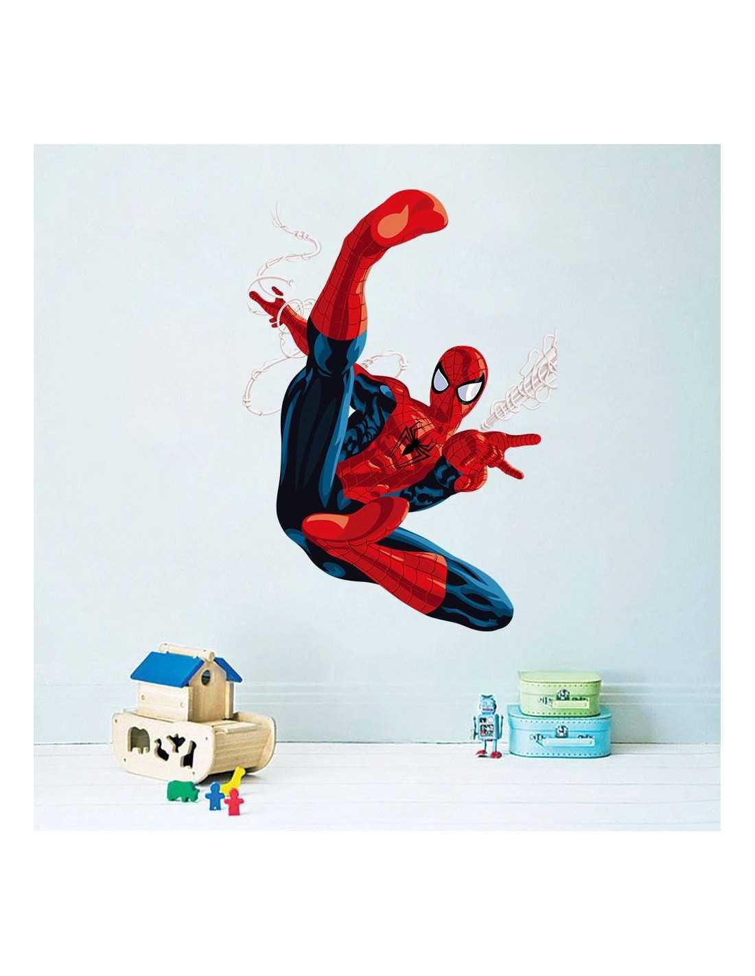 "Интерьерная наклейка Spider-Man \\""Удар\\"""