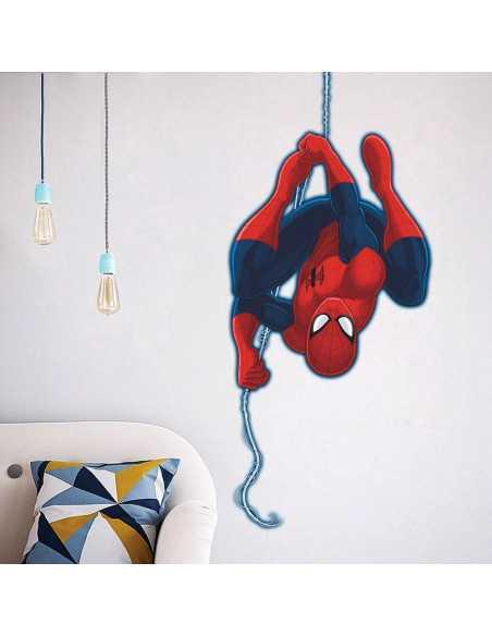 """Интерьерная наклейка Spider-Man \\""""Вниз головой\\"""" большая"""