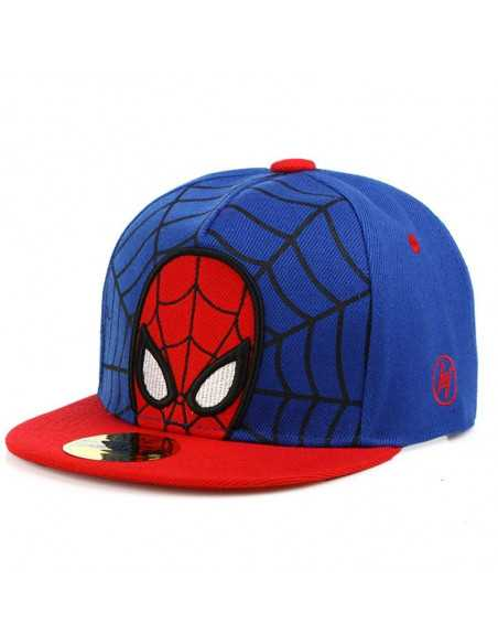 Рэперская бейсболка снепбек Spider-Man синяя