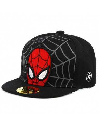 Рэперская бейсболка снепбек Spider-Man чёрная