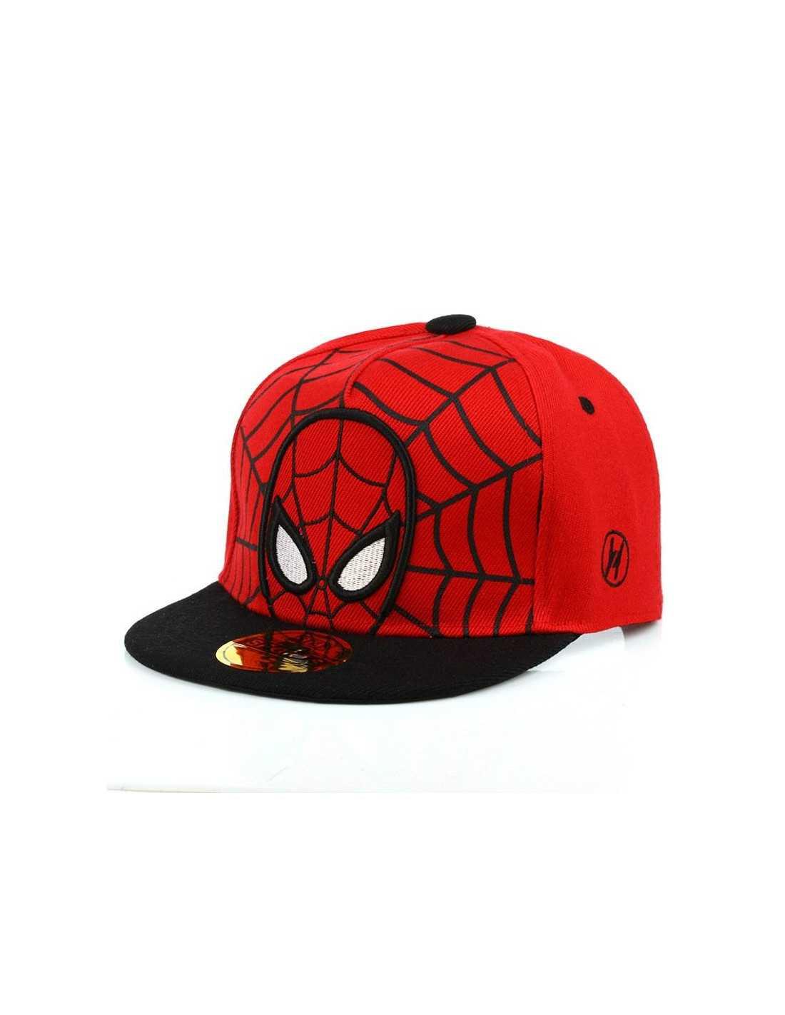 Рэперская бейсболка снепбек Spider-Man красная