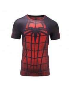 Футболка Spider-Man красная с чёрным