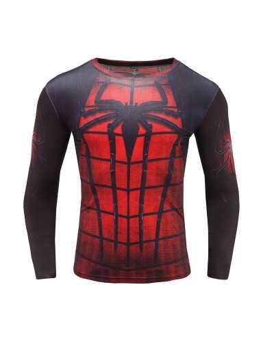 Футболка Spider-Man с длинным рукавом красная с чёрным