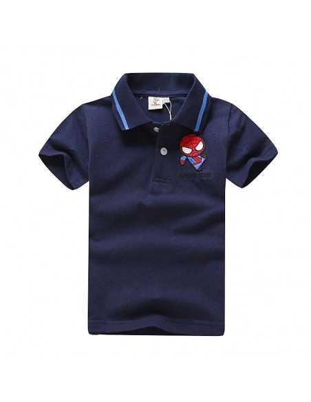 Детская футболка поло с логотипом Spider-Man синяя