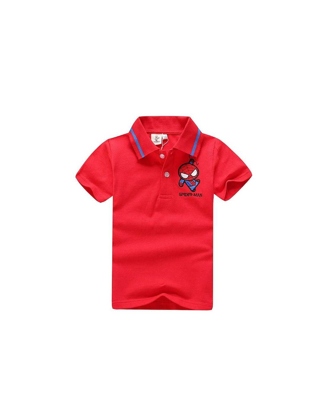 Детская футболка поло с логотипом Spider-Man красная