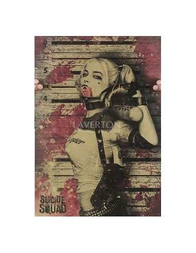 Постер Harley Quinn на крафовой бумаге