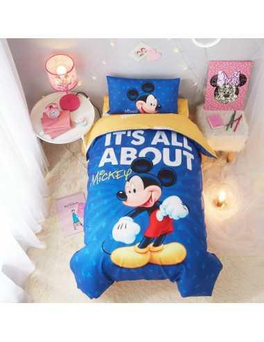 """Детское постельное белье """"Mickey Mouse"""" синее"""