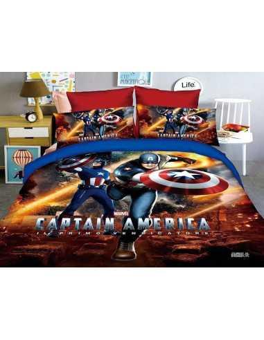 """Комплект детского постельного белья Marvel """"Капитан Америка"""" 150"""