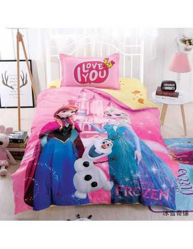 """Детское постельное белье  """"Холодное сердце"""" розовое"""