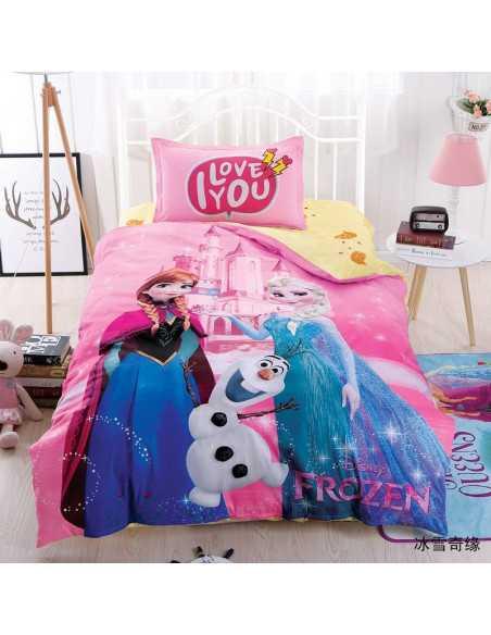 """Детское постельное белье \\""""Холодное сердце\\"""" розовое"""