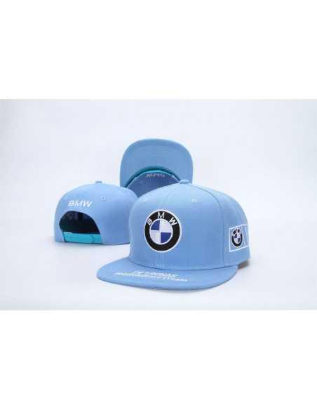 """Кепка рэперка \\""""BMW Petronas\\"""" голубая"""