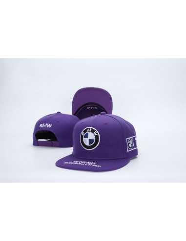 """Кепка рэперка """"BMW Petronas"""" фиолетовая"""