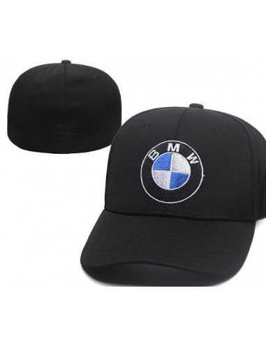 "Кепка бейсболка ""BMW чёрная"" без застёжки"