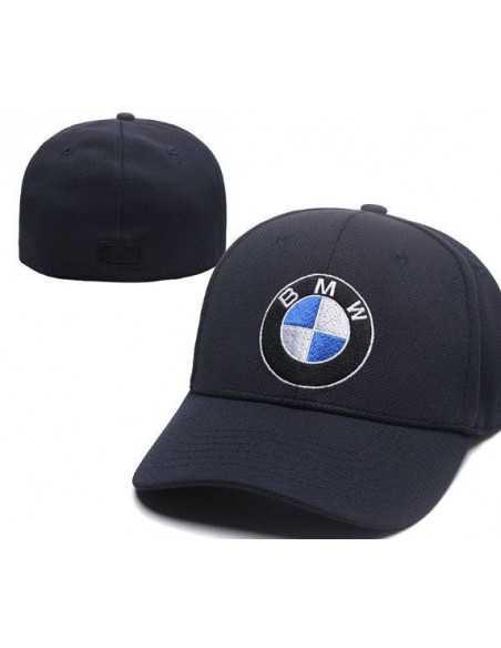 """Кепка бейсболка \\""""BMW тёмно-синяя\\"""" без застёжки"""