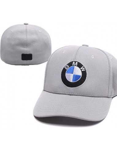 """Кепка бейсболка \\""""BMW серая\\"""" без застёжки"""