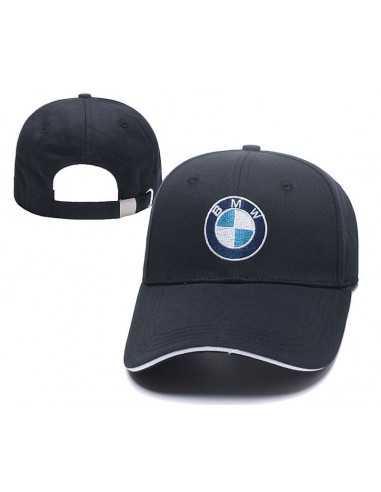 """Кепка бейсболка \\""""BMW\\"""" тёмно-синяя с окантовкой"""