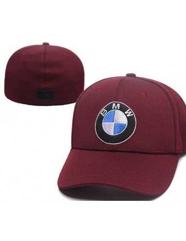 """Кепка бейсболка """"BMW бордо"""" без застёжки"""