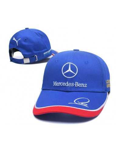 """Кепка бейсболка """"Mersedes-Benz от Puma"""" синяя"""