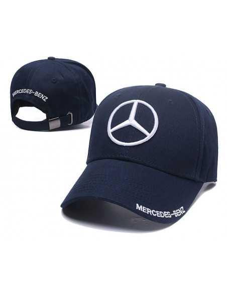 """Кепка бейсболка \\""""Mersedes-Benz\\"""" тёмно-синяя"""