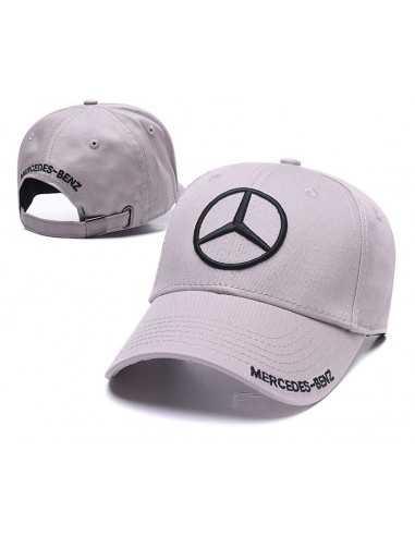 """Кепка бейсболка """"Mersedes-Benz"""" серая"""