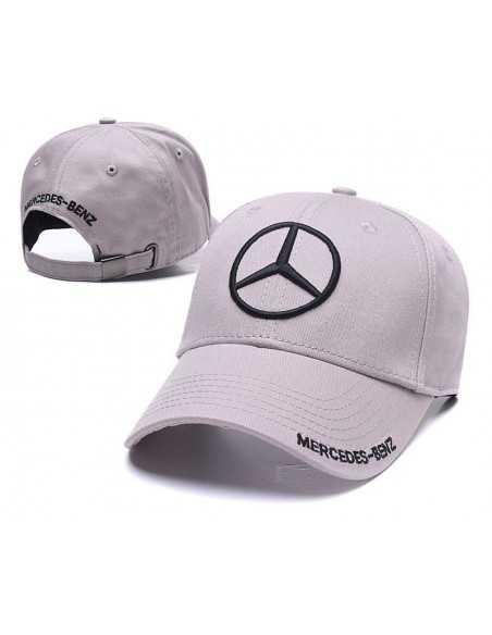 """Кепка бейсболка \\""""Mersedes-Benz\\"""" серая"""