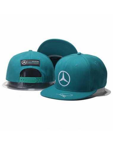 """Кепка рэперка \\""""Mersedes Petronas F1\\"""" аквамарин"""